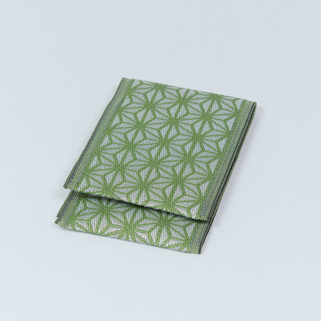 名刺・カード入れ 麻の葉(緑)