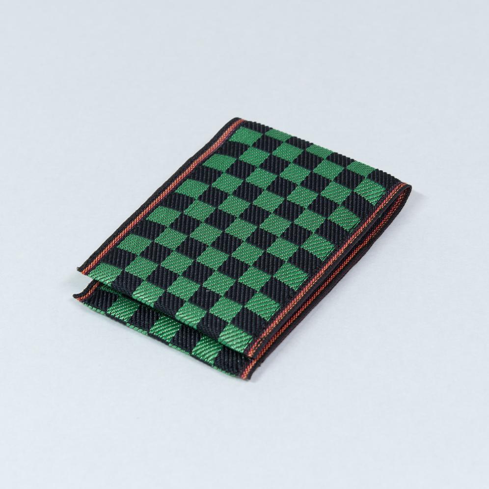 名刺カード入れ 和柄(緑黒)