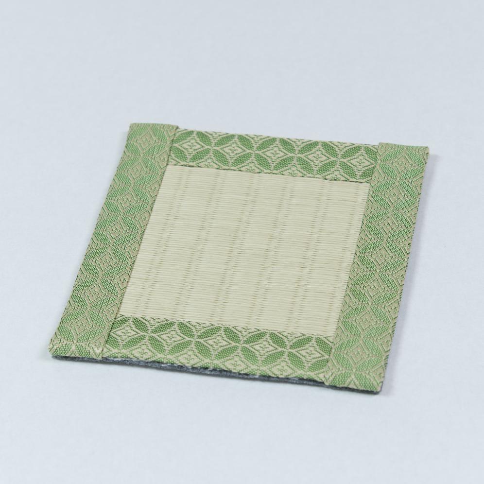 コースター 紋(緑)