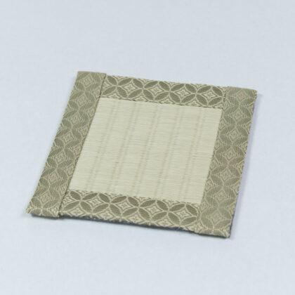 コースター 紋(茶)